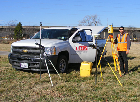 professional land surveying services, boundary and property topographic, construction staking surveying, right of way and easement document preparation